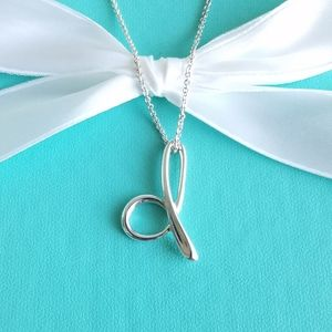 "Tiffany & Co. Jewelry - Large Peretti's alphabeth ""d"" pendant necklace"